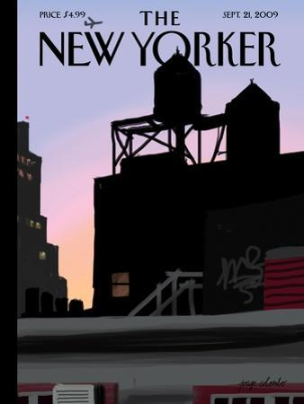 The New Yorker Cover - September 21, 2009 by Jorge Colombo