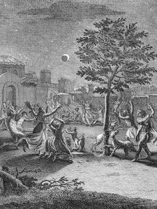 Eclipse of the Moon, from 'Voyage Historique De L'Amerique Meridionale', Pub. 1752 by Jorge Juan y Santacilia