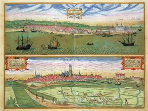 "Elsenor and Ripen, from ""Civitates Orbis Terrarum"" by Georg Braun and Frans Hogenburg, circa 1572 by Joris Hoefnagel"