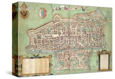 "Map of Augsburg, from ""Civitates Orbis Terrarum"" by Georg Braun and Frans Hogenberg, circa 1572"