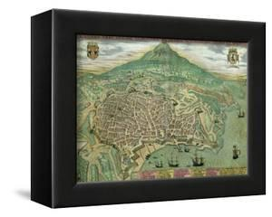 "Map of Catania, from ""Civitates Orbis Terrarum"" by Georg Braun and Frans Hogenberg, circa 1572 by Joris Hoefnagel"