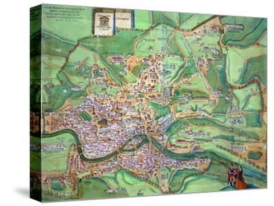 "Map of Rome, from ""Civitates Orbis Terrarum"" by Georg Braun and Frans Hogenberg, 1570"