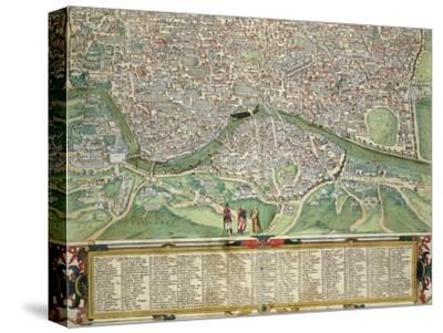 "Map of Rome, from ""Civitates Orbis Terrarum"" by Georg Braun and Frans Hogenberg circa 1572-1617"