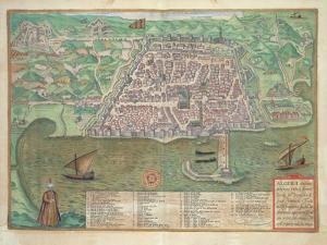 Map of Toledo by Joris Hoefnagel