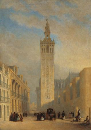 The Giralda Seen from Calle Placentines by Jos? Dom?nguez B?cquer