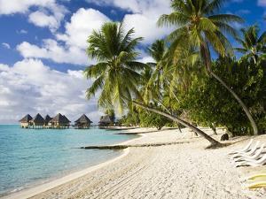 Huts at Matira Beach, Bora Bora Island by Jos? Fuste Raga