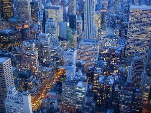 Midtown Manhattan at Dusk by Jos? Fuste Raga