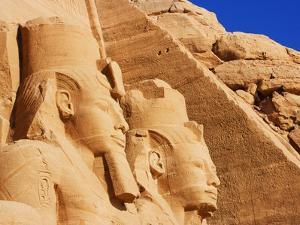 Seated Colossi of Ramesses II at Abu Simbel by Jos? Fuste Raga
