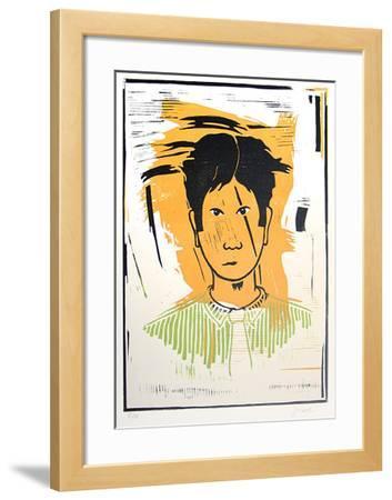 Portrait auf Gelb