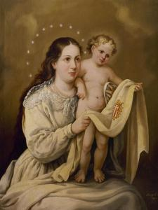 Virgen de La Merced, Colección Particular, Gijón, Asturias, España by José Agustín Arrieta