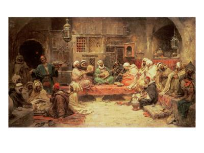 Arabs Making Music in an Interior