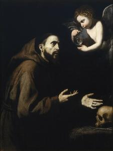 Francis of Assisi and the Angel with the Water Bottle, 1636-1637 by José de Ribera