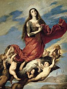 Mary Magdalene Taken Up to Heaven by José de Ribera