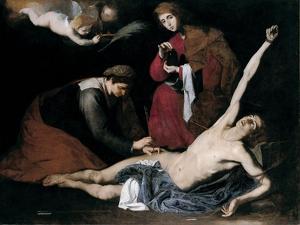 Saint Sebastian Tended by the Holy Women, C. 1621 by José de Ribera