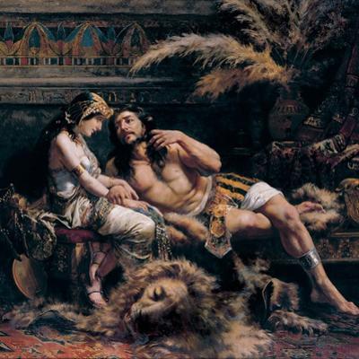 Samson and Delilah, 1887 by José Echenagusia Errazquin