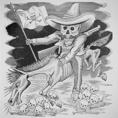Calavera Zapatista, C.1910 (Engraving)