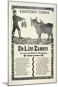 Legítimos Versos De Lino Zamora Traidos Del Real De Zacatecas, Published 1903 by Jose Guadalupe Posada