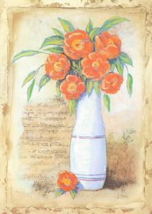 Musical Flowers II by Jose Guadalupe Posada