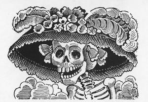 Posada: Fashionable Lady by Jose Guadalupe Posada