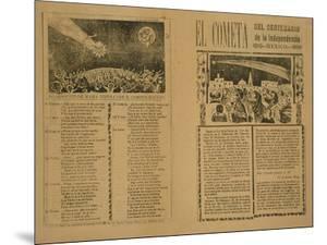 The Comet, 1899, Printed 1910 by Jose Guadalupe Posada