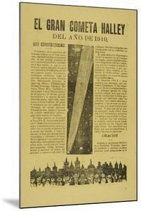 The Great Halley's Comet, 1899, Published 1910 by Jose Guadalupe Posada