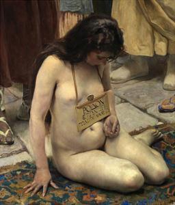 A Slave for Sale, after 1892 by Jose Jimenez aranda