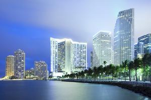Skyline and Brickell Key, Miami, Florida, USA by Jose Luis Stephens