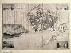 Map of Barcelona by Jose Mas y Vila