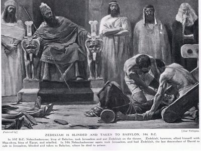 Zedekiah Is Blinded and Taken to Babylon 586 BC