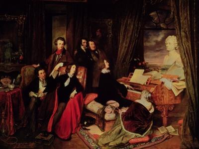 Liszt at the Piano, 1840 by Josef Danhauser