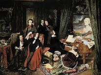 Liszt at the Piano, 1840-Josef Danhauser-Giclee Print