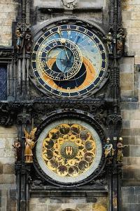Astronomical Clock and Josef Manes' Calendar by Josef Manes