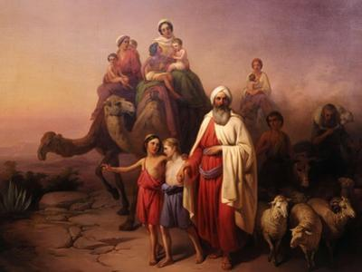 The Departure of Abraham, 1850 by Josef Molnar