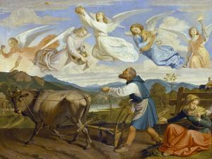 The Dream of St. Isidor, 1839 by Josef von Fuhrich