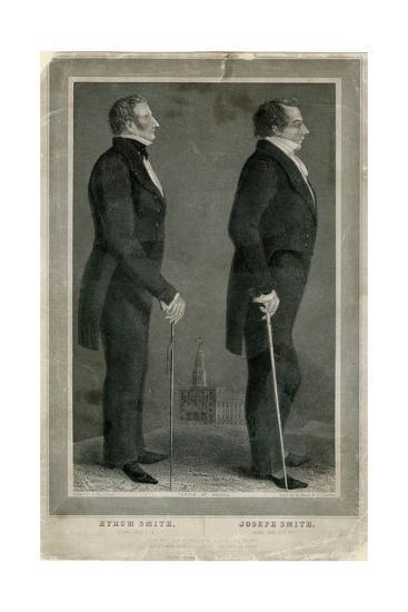 Joseph and Hiram Smith, Pioneers of Mormonism-S Maudsley-Giclee Print