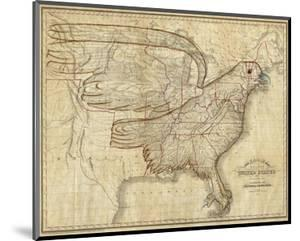 Eagle Map of the United States, c.1833 by Joseph And James Churchman