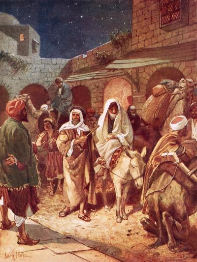 Joseph and Mary Arrive at Bethlehem, But Find There Is No Room for Them at the Inn-William Brassey Hole-Giclee Print