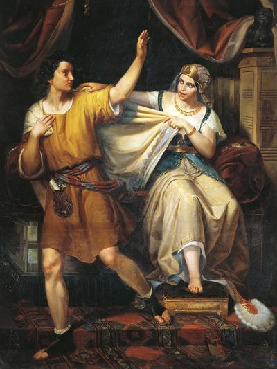 Joseph and Potiphar's Wife, 1852-Juan Urruchi-Giclee Print