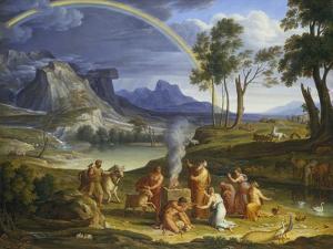 Landscape with Noah Offering a Sacrifice of Gratitude, 1803 by Joseph Anton Koch