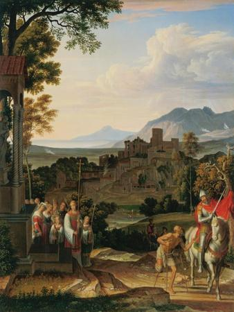 Landschaft mit dem hl.Martin. 1815
