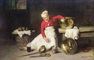 Kitchen-Boy, 1893 by Joseph Bail