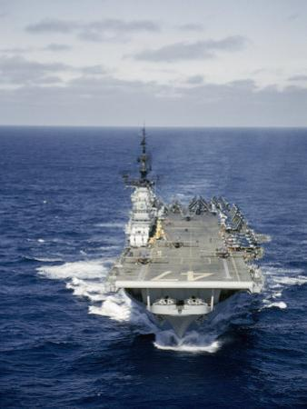 Aircraft Carrier Increases Speed before Launching Panther Jets