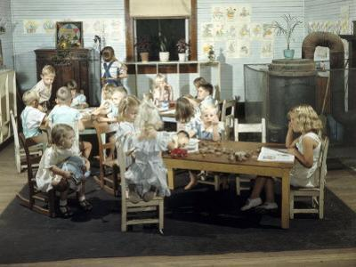 Children Play in a Day Nursery at a Textile Mill