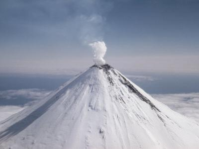 Shishaldin Volcano, One of Many Active Volcanoes in the Aleutian Chain