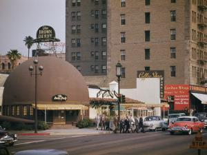 World Famous Brown Derby Restaurant on Wilshire Boulevard by Joseph Baylor Roberts