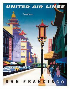San Francisco, USA - China Town - United Air Lines by Joseph Binder