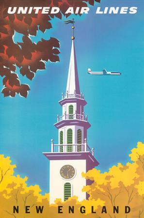 United Air Lines: New England, c.1950s