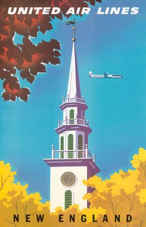 United Air Lines: New England, c.1950s by Joseph Binder