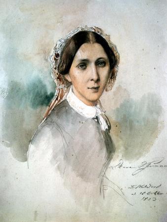 Portrait of Clara Schumann (1819-96) 1853