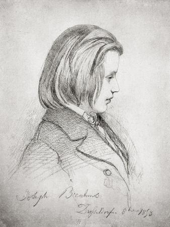 Portrait of Johanes Brahms Aged Twenty, 1853